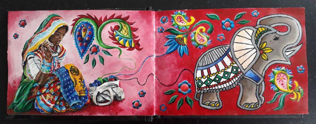 Indiase borduurkunst
