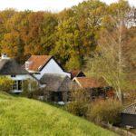 Dijkhuisjes landschapsfoto