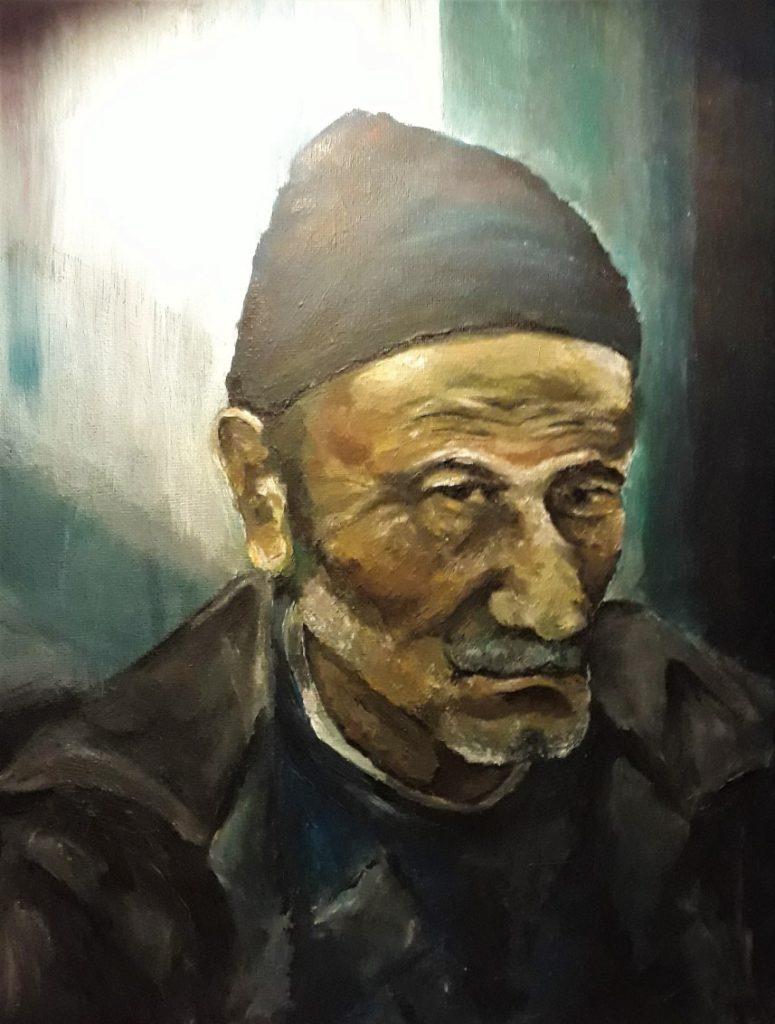 Iraanse man - acrylverf 2012