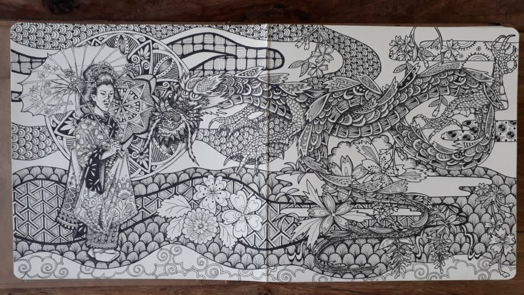 Zentangle Zen met de pen