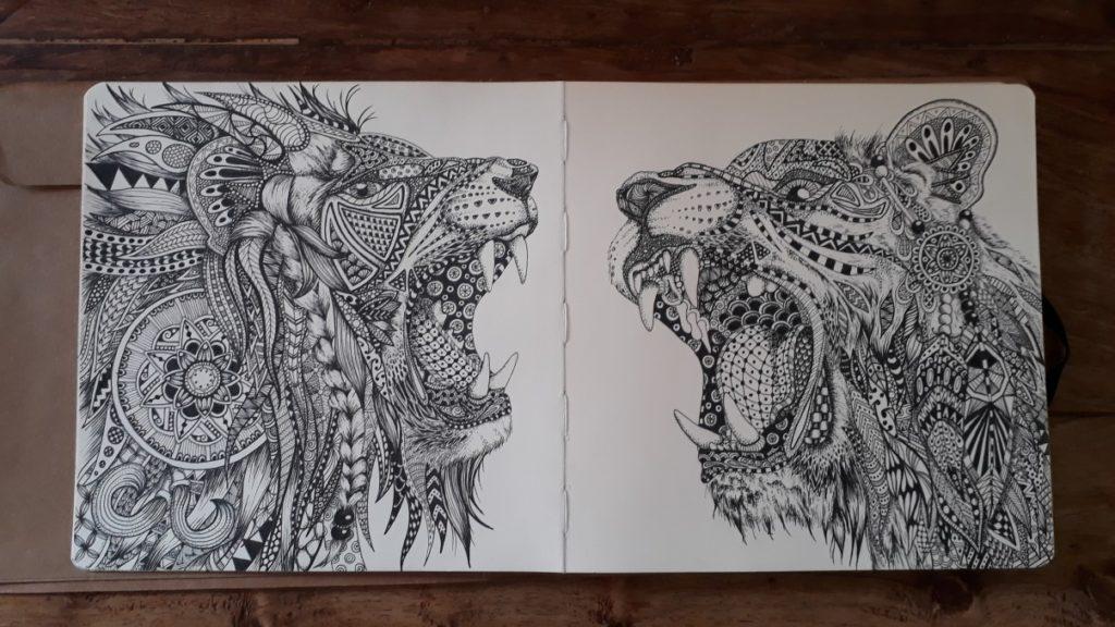 Zentangle leeuwen