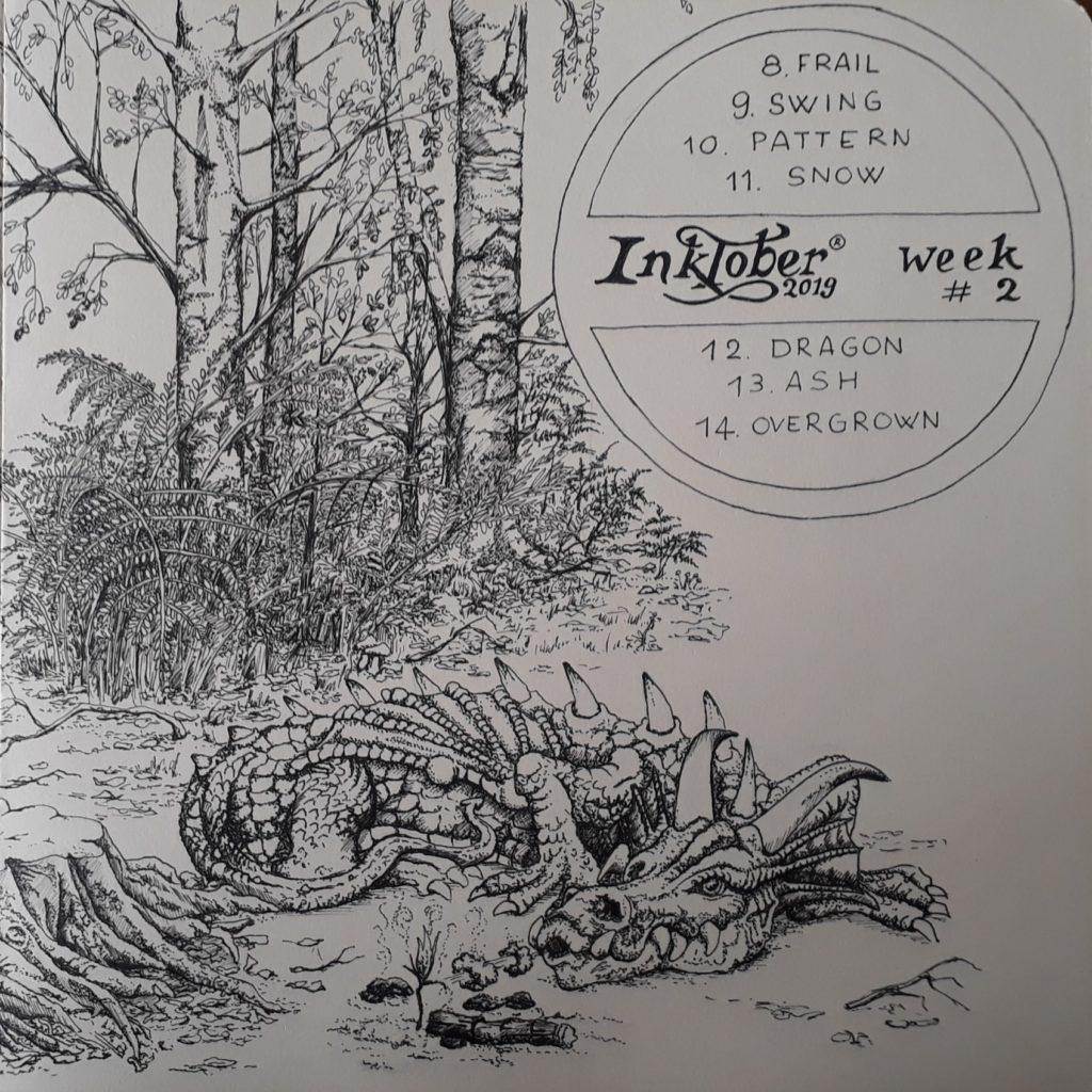 Pentekening Inktober week 2