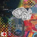 Mixed Media albumhoes voor de band Portulan